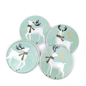 Pier 1 Imports Modern Deer Coaster Set